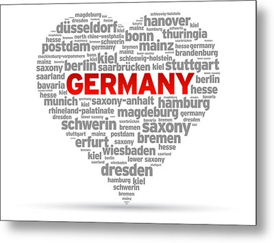 I Love Germany Metal Print by Aged Pixel