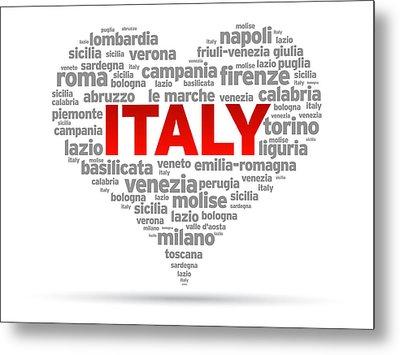 I Love Italy Metal Print
