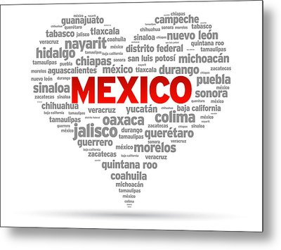 I Love Mexico Metal Print by Aged Pixel
