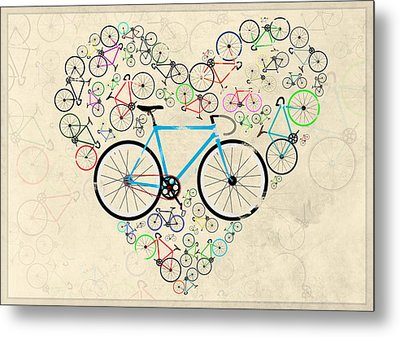 I Love My Bike Metal Print by Andy Scullion