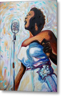 I Love The Blues Metal Print by Emery Franklin
