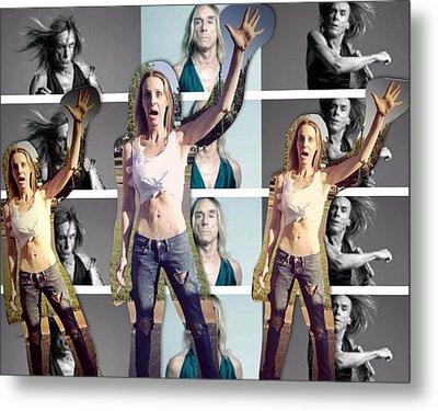 I Love U Iggy Pop Metal Print by Lisa Piper