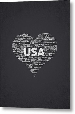 I Love Usa Metal Print by Aged Pixel