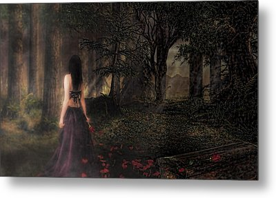 I Love You To Death Metal Print by Kristie  Bonnewell