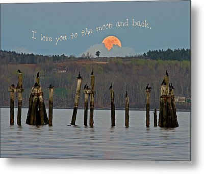 I Love You To The Moon And Back Metal Print by Barbara West