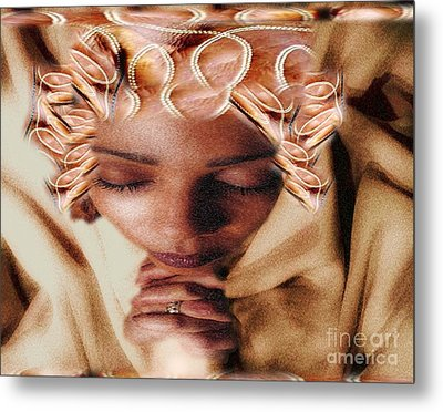I Pray To Lord My Daily Prayer Metal Print by Belinda Threeths