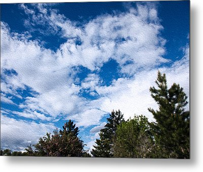 I See A White Cloud Looking At Me Metal Print by Omaste Witkowski