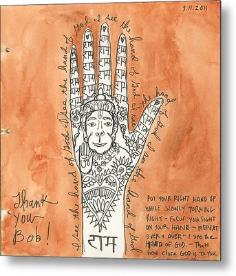I See The Hand Of God Metal Print