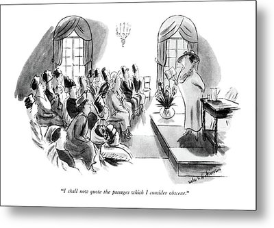 I Shall Now Quote The Passages Which I Consider Metal Print by Helen E. Hokinson
