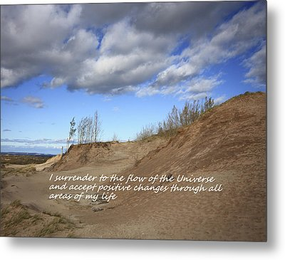 I Surrender To The Flow Of The Universe Metal Print by Patrice Zinck