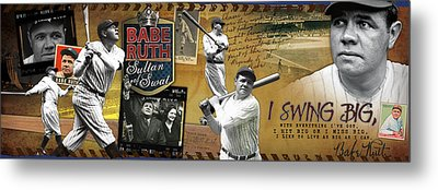 I Swing Big Babe Ruth Metal Print by Retro Images Archive