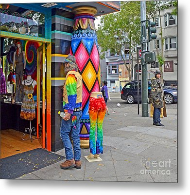 I Think He Found The Store He Was Looking For Metal Print by Jim Fitzpatrick