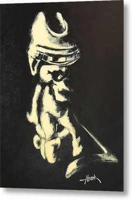 I Was Born To Play Hockey Metal Print by Almark