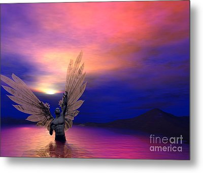 Metal Print featuring the digital art I Will Rise Again by Sipo Liimatainen
