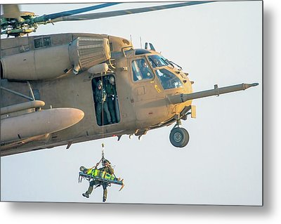 Iaf Sikorsky Ch-53 Helicopter Metal Print by Photostock-israel
