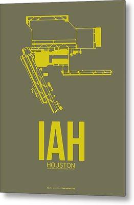Iah Houston Airport Poster 2 Metal Print