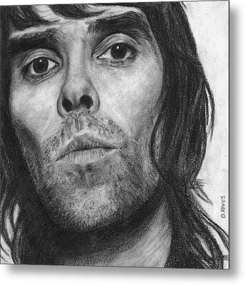 Ian Brown Pencil Drawing Metal Print