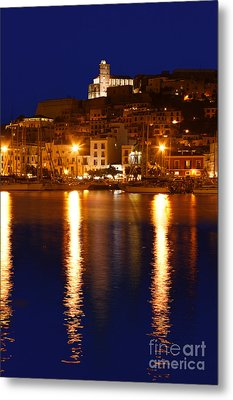Ibiza Old Town At Night Metal Print