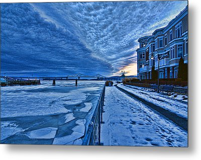 Ice Station Hudson Metal Print