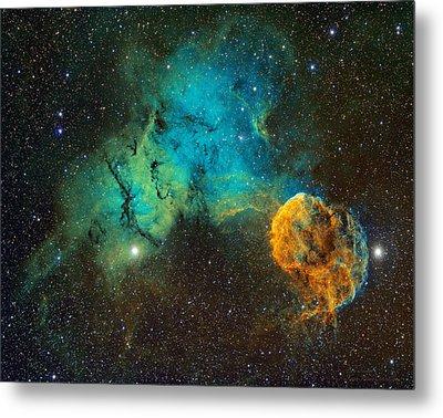 Ic443 - The Jellyfish Nebula Metal Print by Bob  Franke