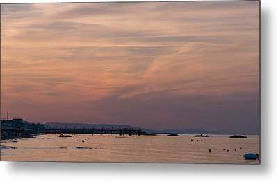 Sunset On The Beach - Icarus Dream Metal Print by Andrea Mazzocchetti