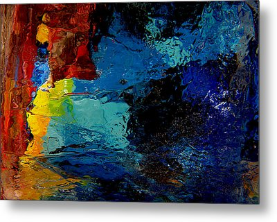 Ice Abstract Number One Metal Print by Jeff Rennicke