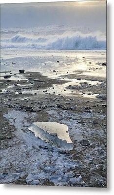 Ice And Waves Metal Print by Tim Grams
