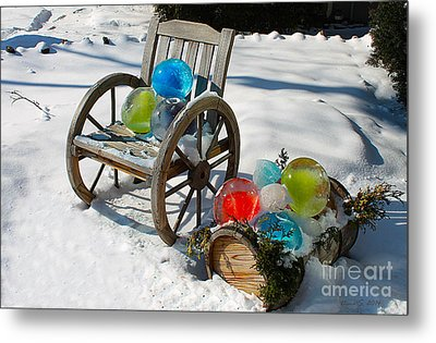 Metal Print featuring the photograph Ice Ball Art by Nina Silver