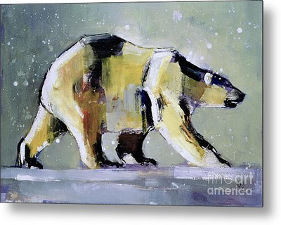 Ice Bear Metal Print by Mark Adlington
