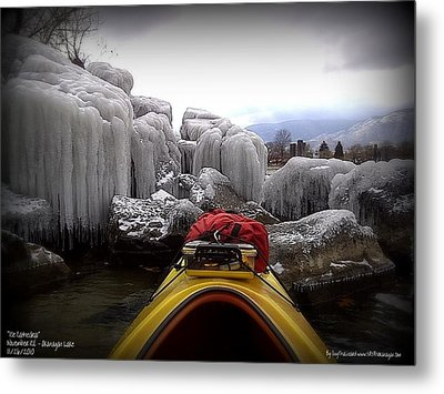 Ice Cathedral - November Ice Metal Print