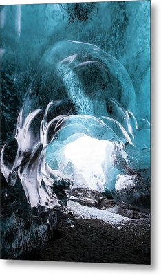 Ice Cave Entrance Metal Print by Dr Juerg Alean