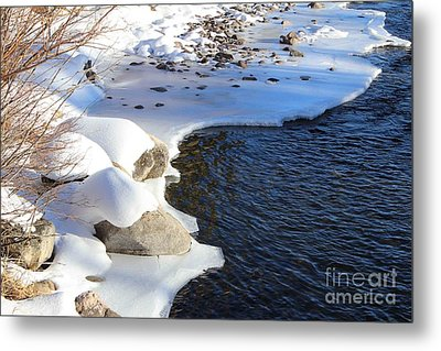Ice Cold Water Metal Print by Fiona Kennard
