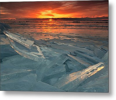 Ice Collage Metal Print by Gregory Israelson
