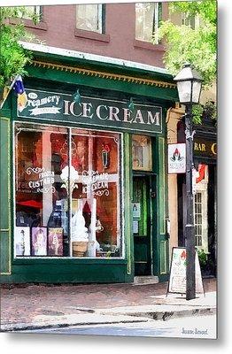 Alexandria Va - Ice Cream Parlor Metal Print