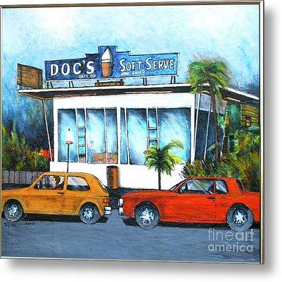 Ice Cream Restaurant In Delray Beach Fl Metal Print