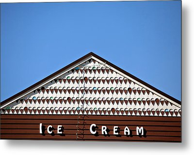 Ice Cream Shop Metal Print by Art Block Collections