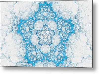 Metal Print featuring the digital art Ice Crystals by GJ Blackman