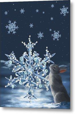 Ice Crystals Metal Print by Veronica Minozzi