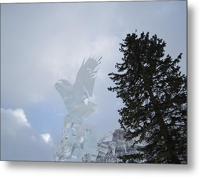 Ice Eagle Metal Print by Cathy Long