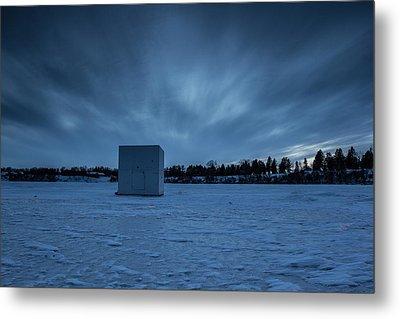 Ice Fishing Metal Print by Aaron J Groen