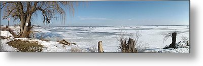 Ice Fishing Metal Print