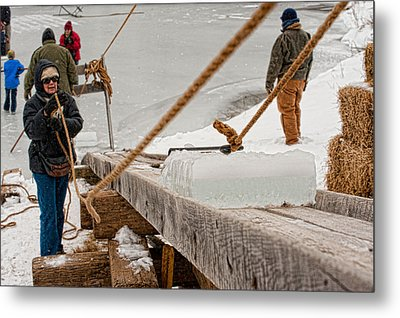 Ice Harvest Metal Print
