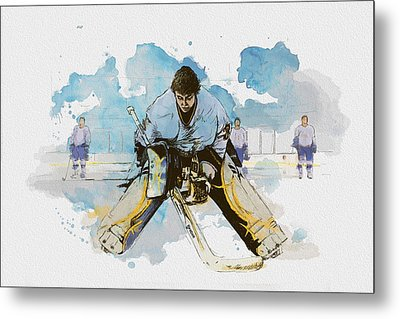Ice Hockey Metal Print by Corporate Art Task Force
