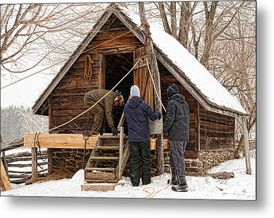 Ice House Metal Print