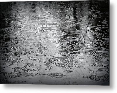 Ice In Triangles Metal Print by Mary Zeman