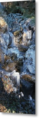 Ice Is Encrusting A Waterfall Metal Print by Ulrich Kunst And Bettina Scheidulin