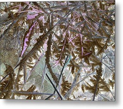 Ice Negated Metal Print by Debbi Saccomanno Chan
