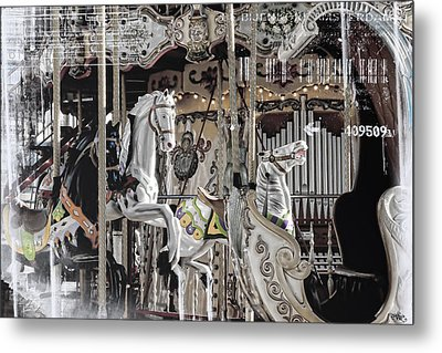 Ice On My Carousel Metal Print by Evie Carrier