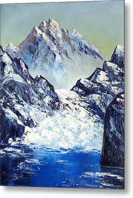 Ice On The Rocks Metal Print by Kenny Henson
