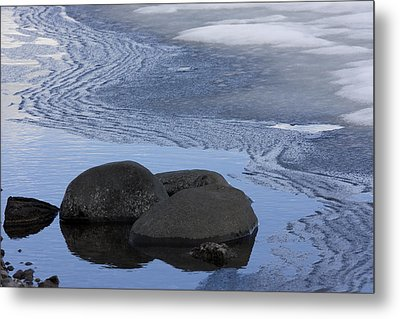 Ice Out At Pumice Point Metal Print